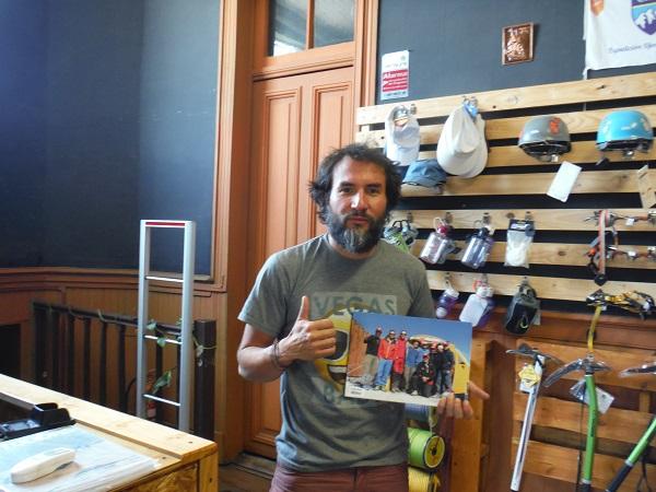 Un Bonito regalo de un montañista Italiano